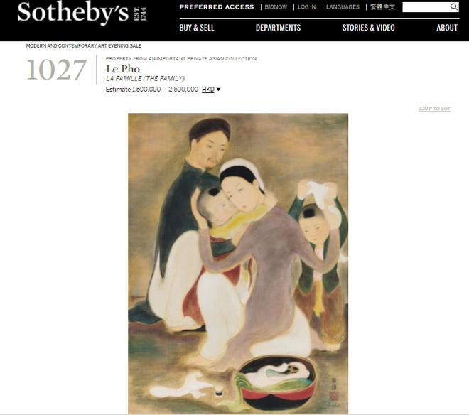 Tranh Le Pho tai Sotheby's ve nguoi phu nu ky di la do gia? hinh anh 1