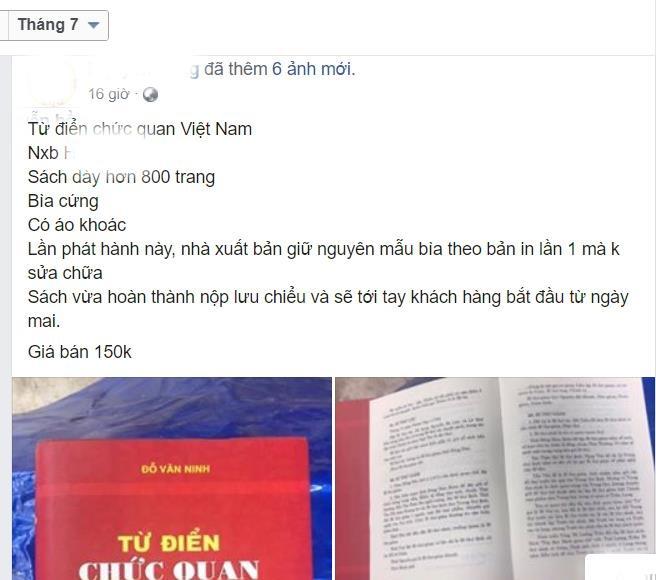 Hai phien ban 'Tu dien chuc quan Viet Nam', dau la sach that? hinh anh 2
