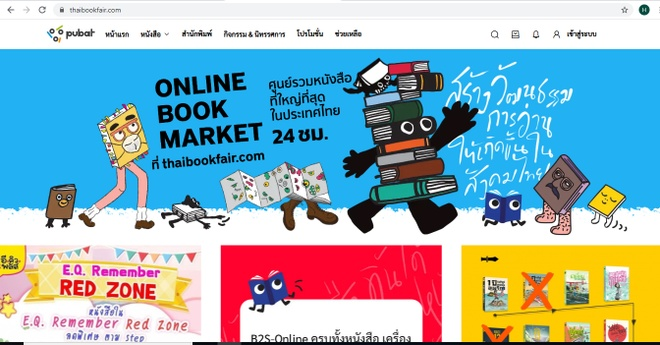 Hoi sach online Thai Lan anh 1