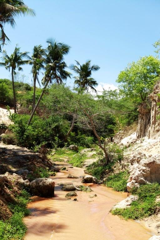 Kham pha dong suoi o Mui Ne hinh anh 2 Nhưng có lẽ không nhiều người biết, ở Mũi Né còn có một điểm du lịch hấp dẫn với khách du lịch, nhất là với những ai ưa khám phá đó là Suối Tiên.