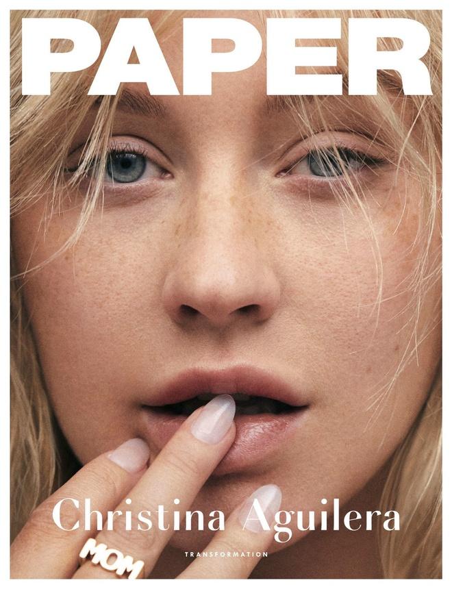 Christina Aguilera tu tin voi mat tan nhang tren tap chi hinh anh 1