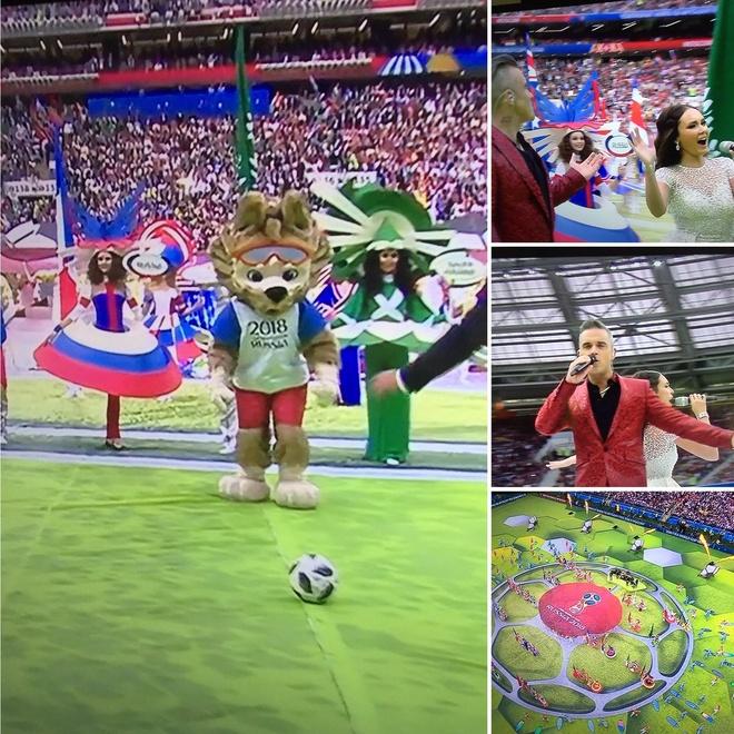 Robbie Williams gio 'ngon tay thoi' khi bieu dien khai mac World Cup hinh anh 1