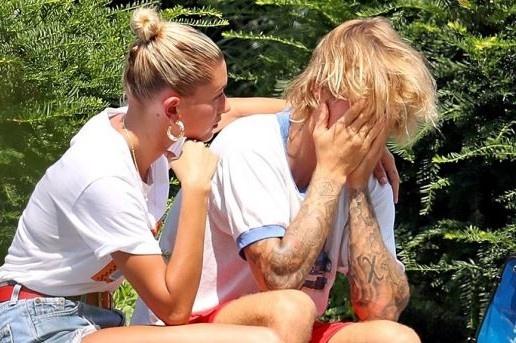 Justin Bieber thua nhan bat khoc tren pho do nghi ve hon nhan hinh anh