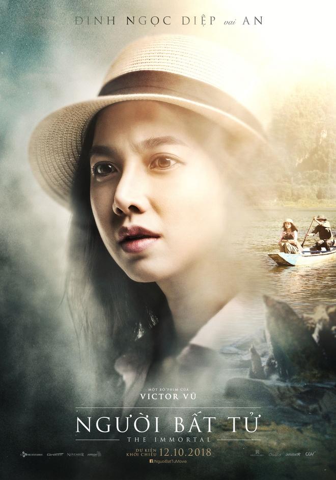 Jun Vu, Dinh Ngoc Diep khoe ve dep ngoc nu tren poster 'Nguoi bat tu' hinh anh 2