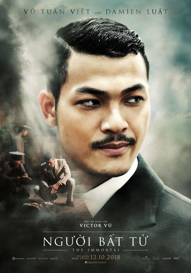 Jun Vu, Dinh Ngoc Diep khoe ve dep ngoc nu tren poster 'Nguoi bat tu' hinh anh 6