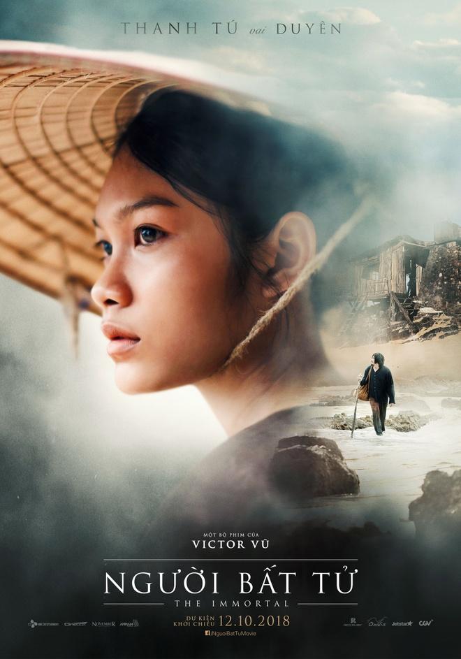Jun Vu, Dinh Ngoc Diep khoe ve dep ngoc nu tren poster 'Nguoi bat tu' hinh anh 4