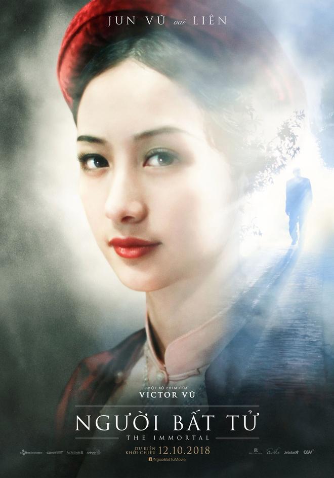 Jun Vu, Dinh Ngoc Diep khoe ve dep ngoc nu tren poster 'Nguoi bat tu' hinh anh 3