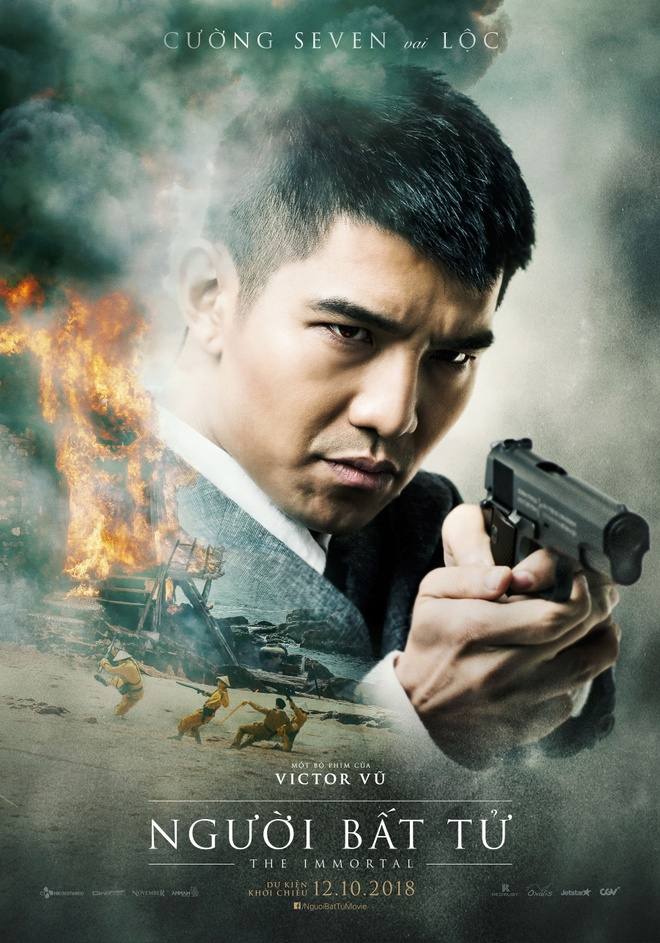 Jun Vu, Dinh Ngoc Diep khoe ve dep ngoc nu tren poster 'Nguoi bat tu' hinh anh 7