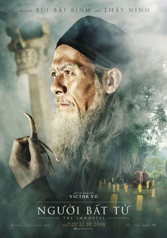 Jun Vu, Dinh Ngoc Diep khoe ve dep ngoc nu tren poster 'Nguoi bat tu' hinh anh 9