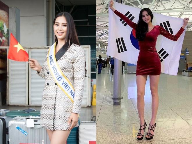 Tieu Vy va dan nguoi dep do bo Trung Quoc thi Miss World 2018 hinh anh