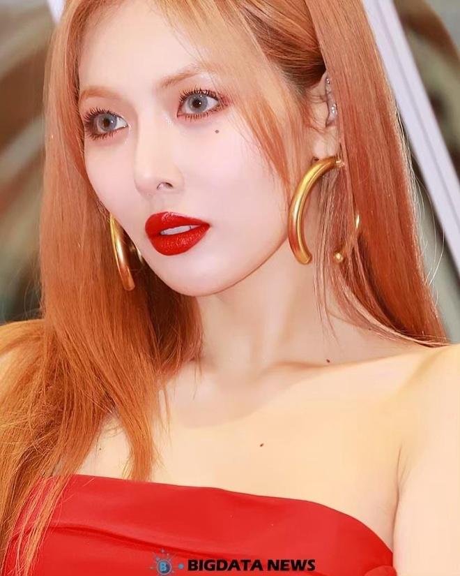 HyunA dien dam do sexy nhung bi che trang diem dang so hinh anh 5