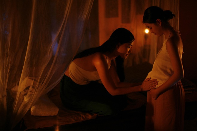 Nhan sac co gai Viet dong canh nong nam 13 tuoi trong phim 'Vo ba' hinh anh 5