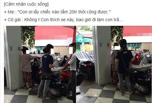 'Con xin loi vi tung doi bo me mua xe ga dat tien' hinh anh 1