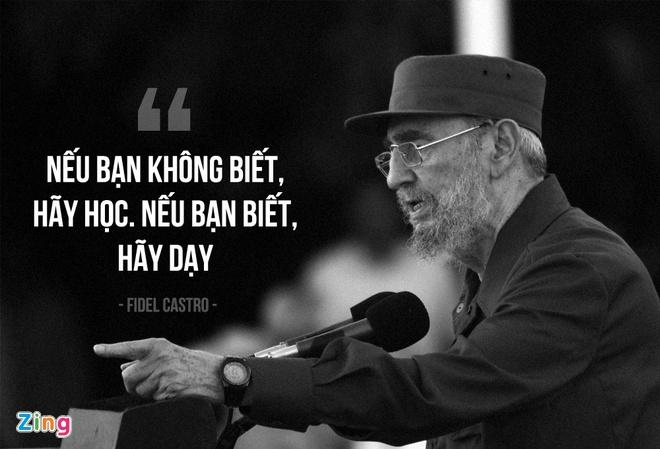 Fidel Castro: Cuba khong co tre that hoc vi doi ngheo hinh anh 1