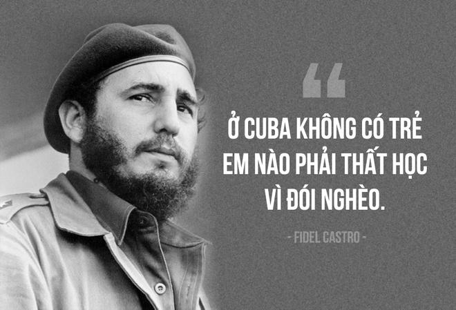 Fidel Castro: Cuba khong co tre that hoc vi doi ngheo hinh anh