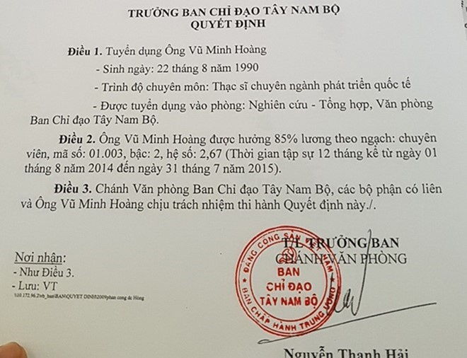 Vu Minh Hoang: 'Toi muon tham gia chinh tri tu nho' hinh anh 2