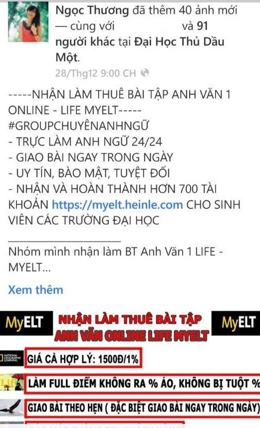 Ban ma tai khoan tieng Anh, nhan lam bai thue tren Facebook hinh anh 1
