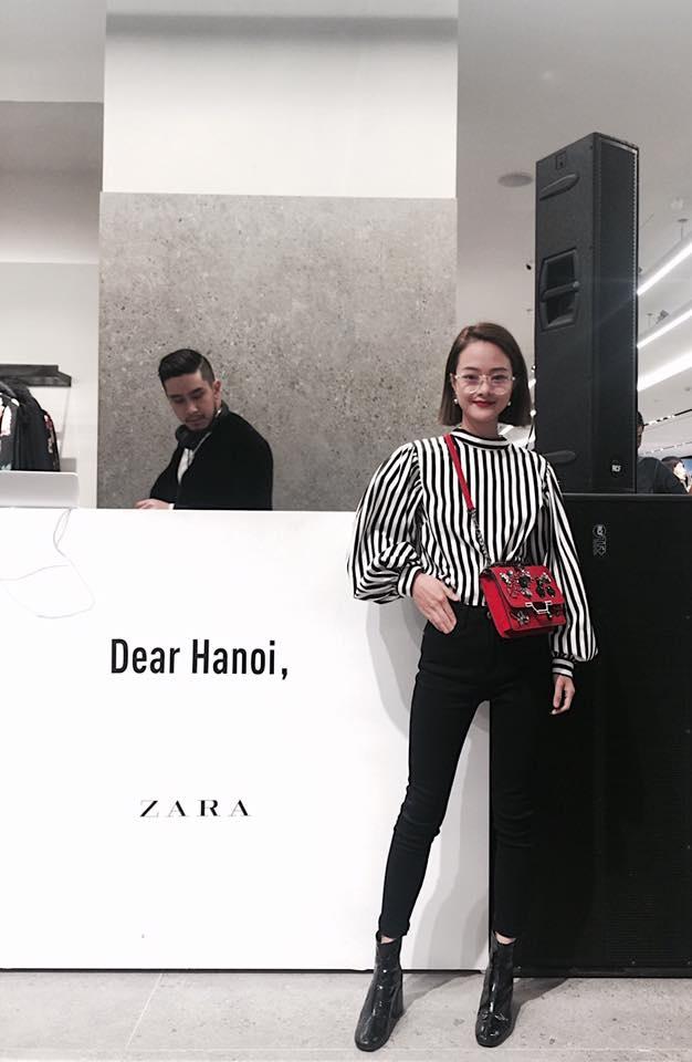 Hot girl thi nhau check-in tai cua hang Zara, H&M dau tien tai Ha Noi hinh anh 9