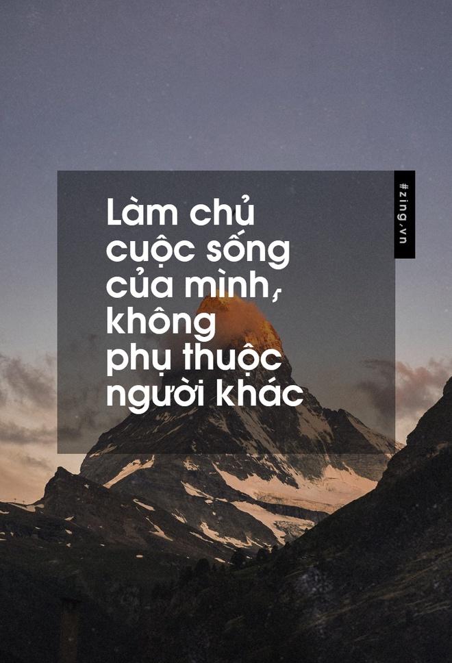Lam chu cuoc song cua minh, khong phu thuoc nguoi khac hinh anh 1