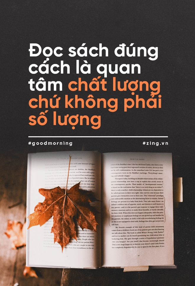 Doc sach dung cach la quan tam chat luong chu khong phai so luong hinh anh 1