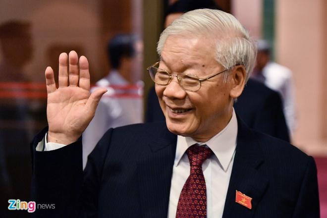 Tong bi thu, Chu tich nuoc chuc Tet lanh dao, dong bao va chien si hinh anh 1