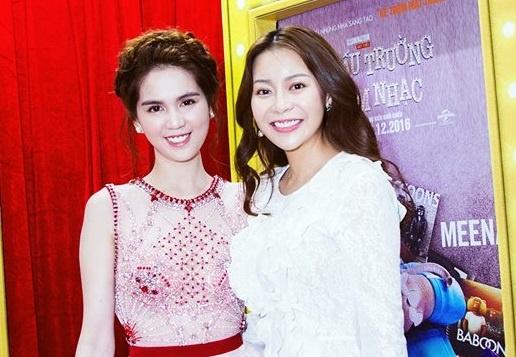 Ngoc Trinh hoi ngo Hoa hau Ao dai Viet Nam tai My o su kien hinh anh