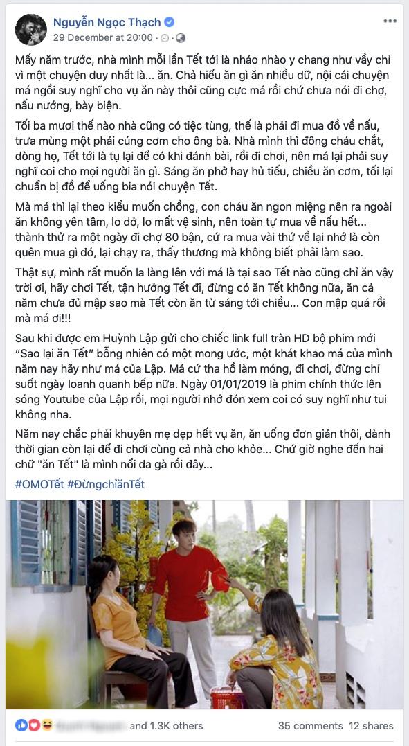 Clip 'Sao lai an Tet' cua Huynh Lap noi thay noi long gioi tre hinh anh 1