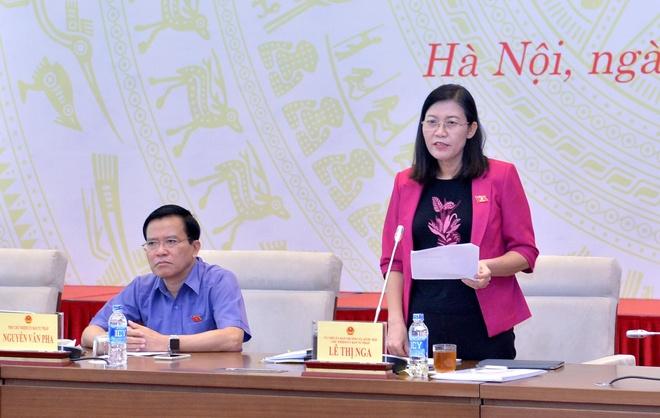 Chủ nhiệm Ủy ban Tư pháp Lê Thị Nga. Ảnh:Hải Ninh.