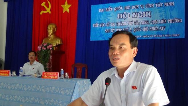 Ông Trần Lưu Quang xin thôi làm Trưởng đoàn đại biểu Quốc hội Tây Ninh