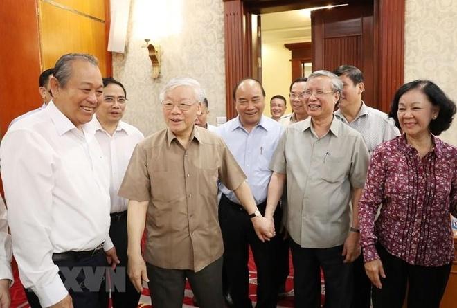 Tong bi thu, Chu tich nuoc Nguyen Phu Trong chu tri hop Bo Chinh tri hinh anh 1