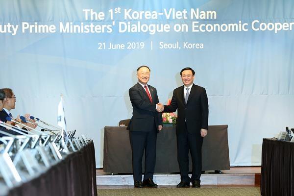 Cuộc đối thoại đầu tiên về kinh tế của hai Phó thủ tướng Việt – Hàn