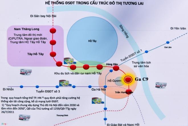Phó thủ tướng yêu cầu nghiên cứu vị trí xây ga ngầm sát hồ Hoàn Kiếm