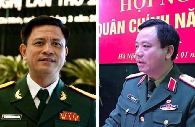 Hai tướng quân đội được bổ nhiệm làm phó tư lệnh quân khu