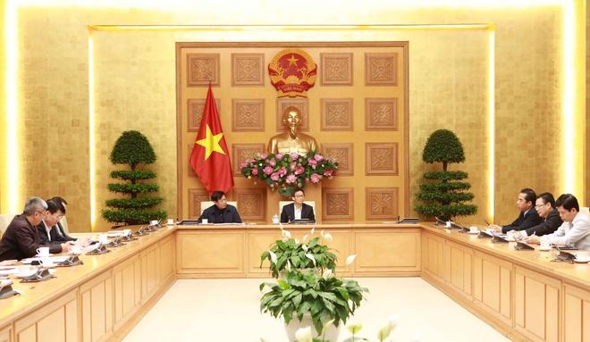 Cuộc họp sáng 4/3 của Ban Chỉ đạo quốc gia phòng, chống dịch Covid-19. Ảnh: VGP.