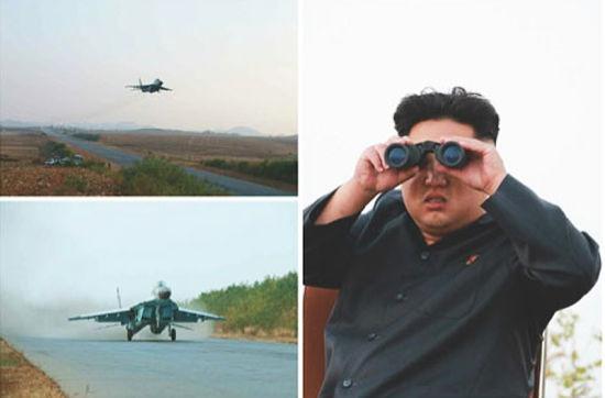 Kim Jong-un chong gay thi sat don vi huan luyen phi cong hinh anh 2 a