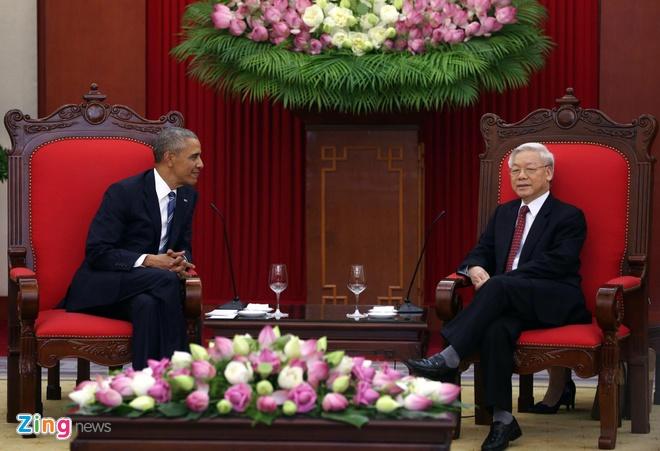 Tong thong Obama hoi kien Tong Bi thu Nguyen Phu Trong hinh anh 4