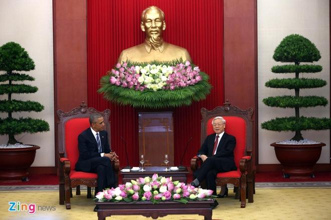 Tong thong Obama hoi kien Tong Bi thu Nguyen Phu Trong hinh anh 3