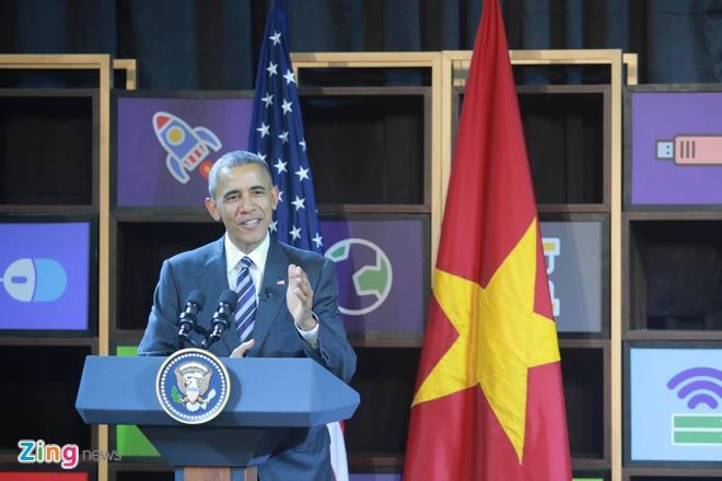 Tong thong Obama doi thoai voi gioi startup Viet hinh anh