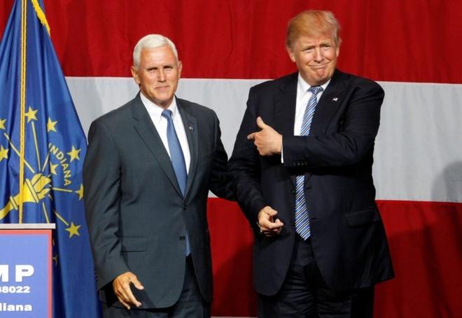 Trump chon thong doc Indiana lam ung vien pho tong thong hinh anh