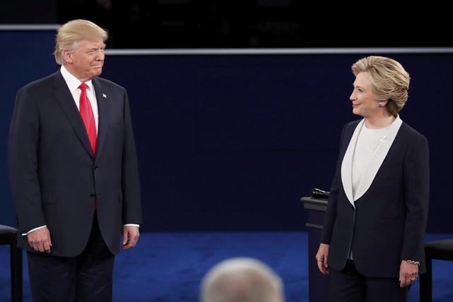 Tranh luan lan hai giua Clinton va Trump hinh anh