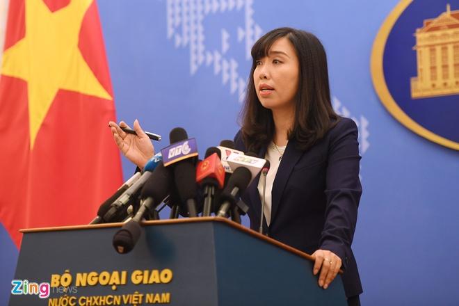 nguoi phat ngon Bo Ngoai giao Le Thi Thu Hang anh 1