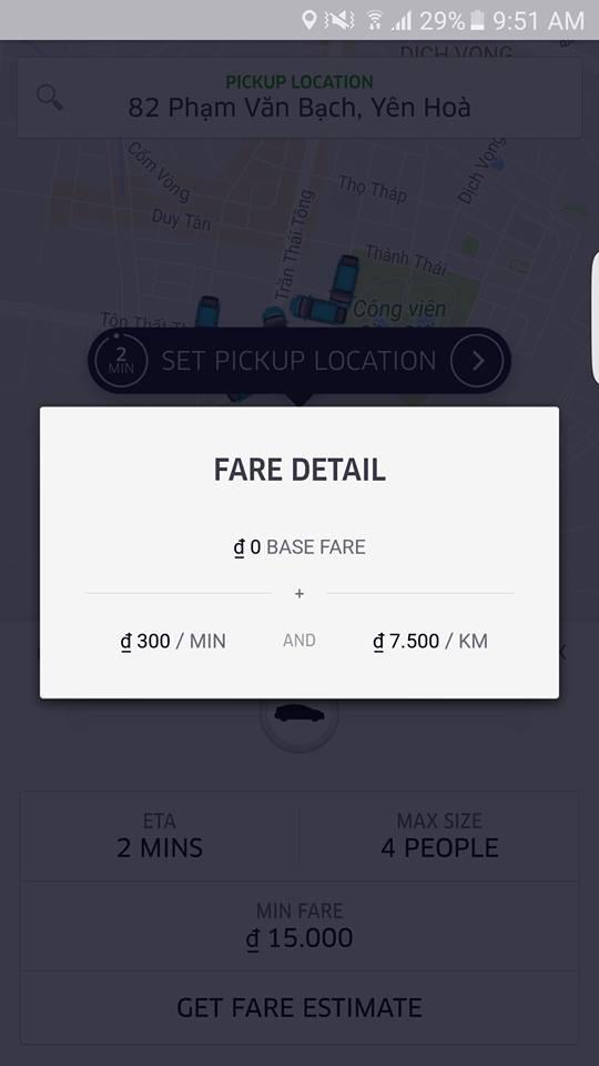 UberX Ha Noi tang 50% gia cuoc, khach hang can nhac hinh anh 1