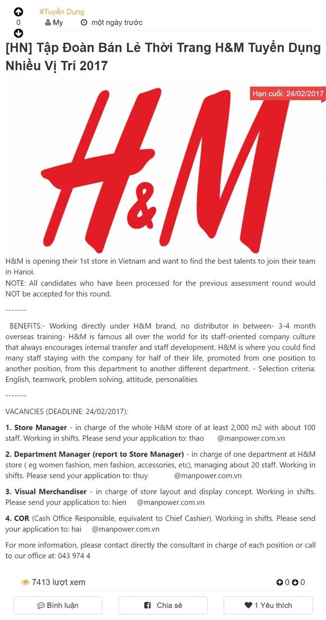 H&M mo cua hang dau tien rong 2.000 m2 o Ha Noi? hinh anh 1