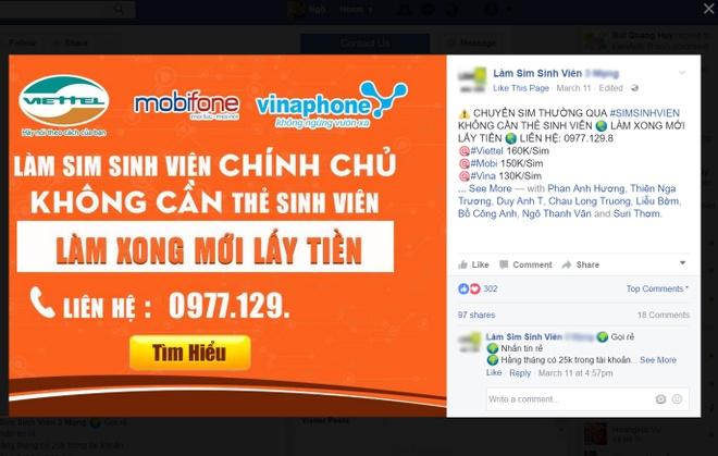 Tra 150.000 dong qua mang de duoc xai SIM sinh vien hinh anh 1