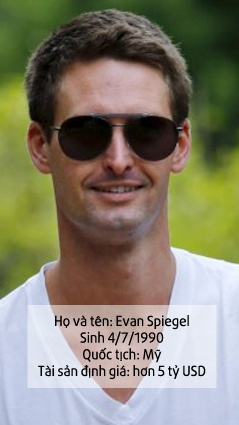 chan dung ceo snapchat evan Spiegel anh 1
