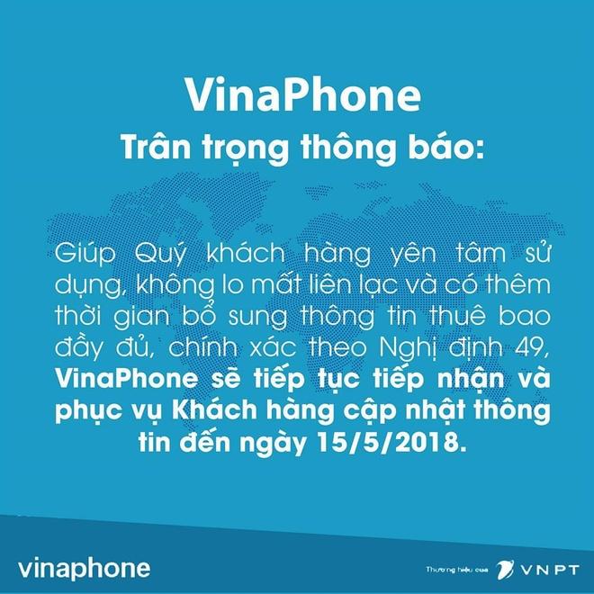 VinaPhone, MobiFone lui thoi han bo sung thong tin, Viettel giu nguyen hinh anh 2