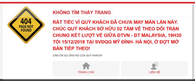 2.500 ve Viet Nam vs Malaysia dot 2 ban het trong 1 phut hinh anh 1