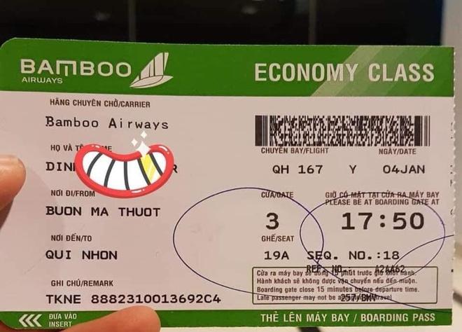 Hinh anh chuyen bay cua Bamboo Airways xuat hien tren mang xa hoi hinh anh 3