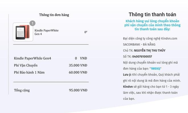 Hang nghin nguoi bi lua 95.000 dong de nhan Kindle mien phi hinh anh 1