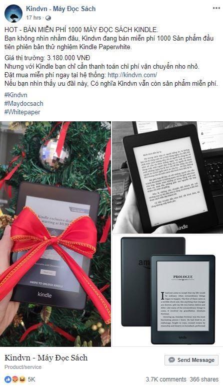 Hang nghin nguoi bi lua 95.000 dong de nhan Kindle mien phi hinh anh 2